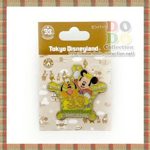 東京ディズニーランド 33周年記念 メインデザイン ピンバッジ♪クリックポストOK