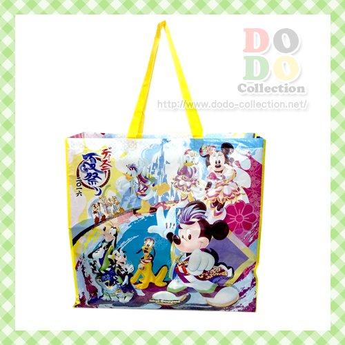 ディズニーランド 夏祭り メインデザイン ショッピングバッグ 2016年 東京ディズニーランド限定