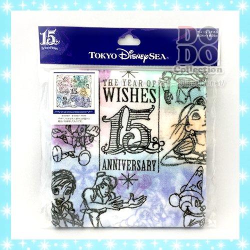 ザ・イヤー・オブ・ウィッシュ ウィッシュ デザイン ウォッシュタオル 東京ディズニーシー15周年限定 クリックポスト…