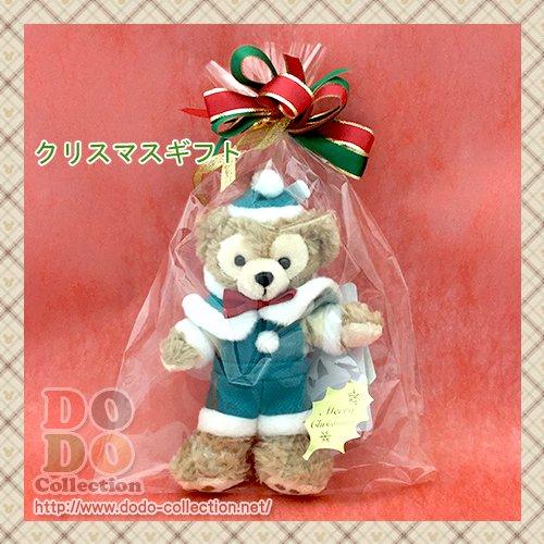 ダッフィー ぬいぐるみバッジ クリスマスラッピング ギフト プレゼント♪東京ディズニーシー限定
