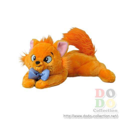 【即納】東京ディズニーリゾート限定 オリジナルアイテム♪ ◇「おしゃれキャット」の青い首輪をしたオレンジ色の猫 トゥルーズのボディバッグです♪