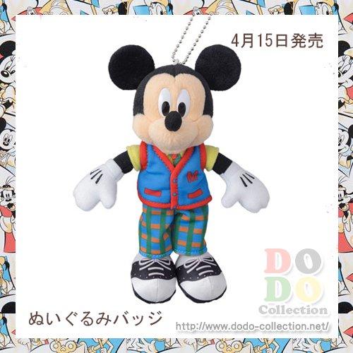 ミッキー ぬいぐるみバッジ 東京ディズニーランド34周年 記念グッズ♪東京ディズニーランド限定
