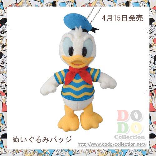 ドナルド ぬいぐるみバッジ 東京ディズニーランド34周年 記念グッズ♪東京ディズニーランド限定