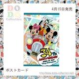 東京ディズニーランド34周年 メインデザイン ポストカード 記念グッズ♪東京ディズニーランド限定 クリックポストOK
