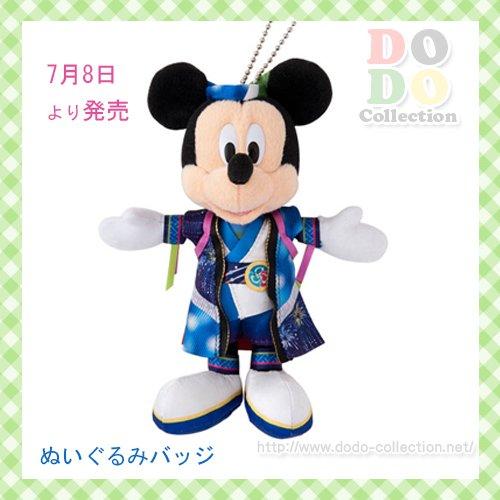 ディズニーランド夏祭り 2017 ミッキー ぬいぐるみバッジ♪東京ディズニーランド限定