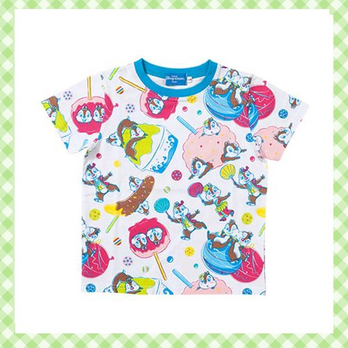 ディズニーランド夏祭り 2017 Tシャツ チップ デール 縁日デザイン 100 110 120♪東京ディズニーランド…