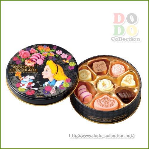 【予約販売】アリス アソーテッド・チョコレート 丸缶入り 東京ディズニーリゾート限定