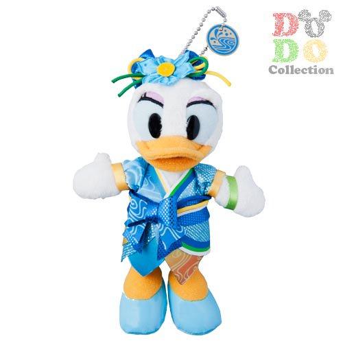 TDL限定 2014年☆ディズニー夏祭り衣装 デイジー ぬいぐるみバッジ♪
