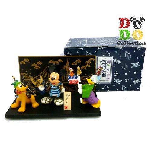 TDR限定 ディズニー五月人形★2016 ミッキー、プルート&ドナルド フィギュアリン 屏風付き♪