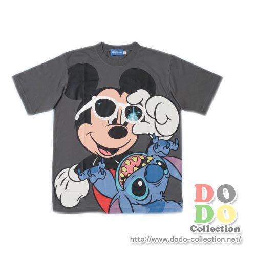 【予約】TDL限定 サングラスミッキー&スティッチ Tシャツ ジュニアサイズ(130~150㎝)♪