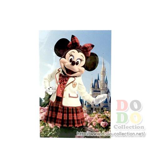 TDR限定 ディズニーランド シンデレラ城 ミニー 制服 ポストカード♪クリックポストOK