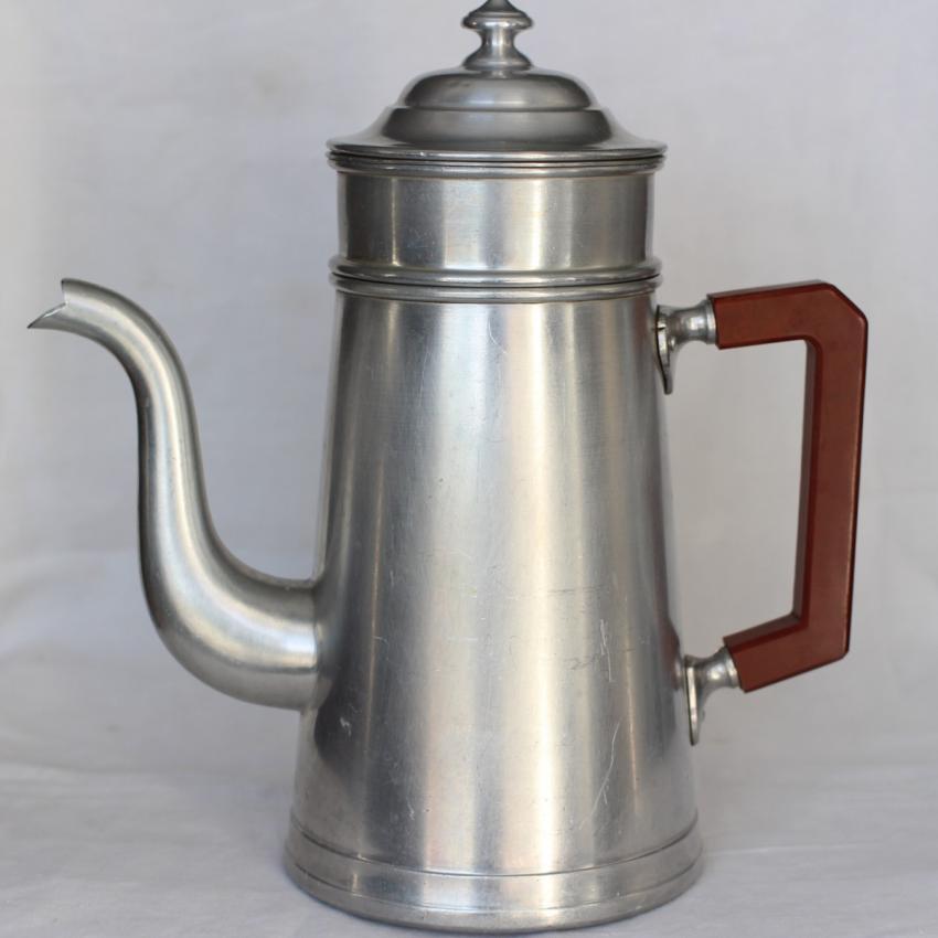フレンチブロカント アルミのコーヒーポット ベークライトハンドル c