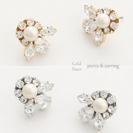 CARUTINA Bijou classical pierce & earring[CA6035-81/61]