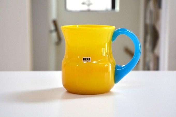 ボダBODAエリック・ホグランErik Hoglundガラスマグ/花瓶黄色