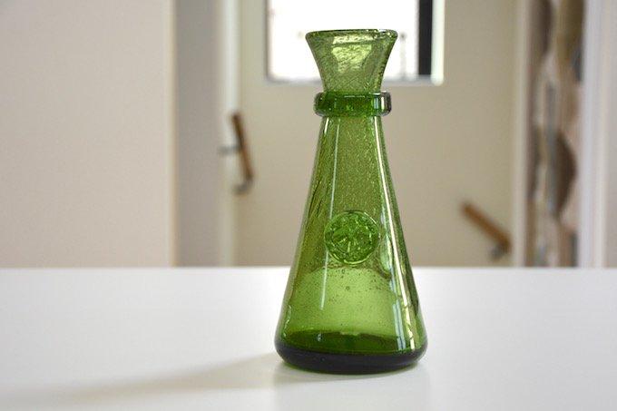 ボダBODAエリック・ホグランErik Hoglundガラス花瓶グリーン