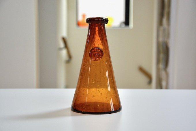 ボダBODAエリック・ホグランErik Hoglundガラス花瓶ブラウン