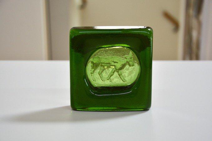 ボダBODAエリック・ホグランErik Hoglundガラスのアッシュトレイ/灰皿ヤギ
