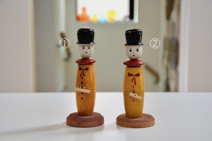 フィンランドで見つけた木製の人形のオモチャ