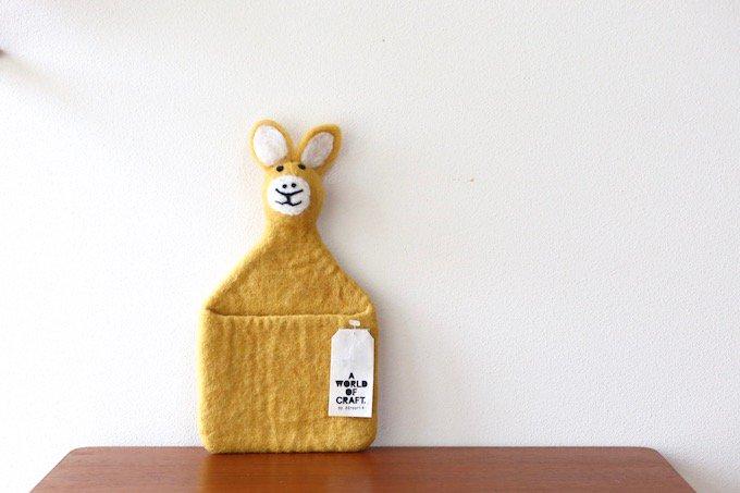 アフロアートAfroartフェルトウォールポケット/うさぎ