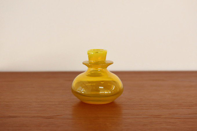 ボダBODAエリック・ホグランErik Hoglundガラス花瓶/黄色