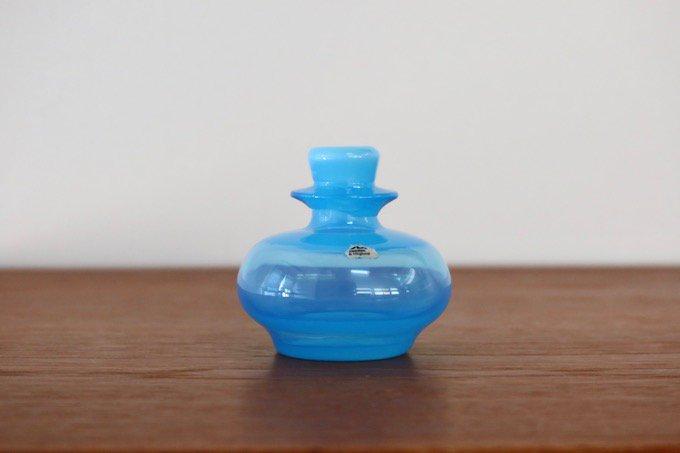 ボダBODAエリック・ホグランErik Hoglundガラス花瓶/水色
