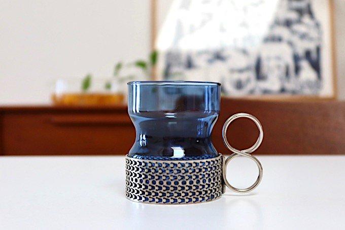 イッタラiittalaツァイッカTsaikka ホルダー付グラス/ブルー