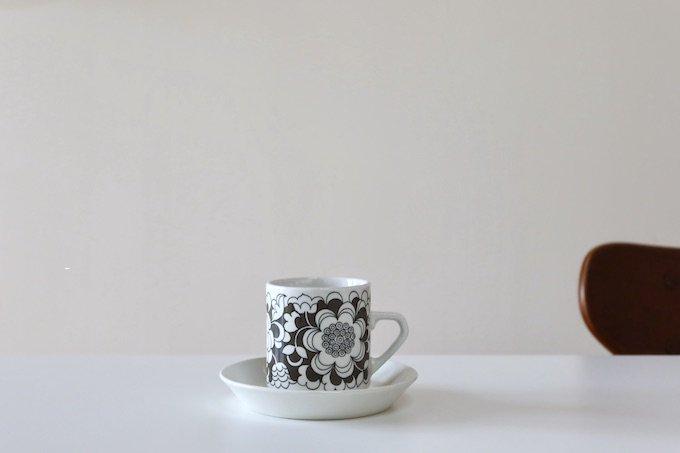 アラビア/Arabia/ガーデニア/Gardenia/コーヒーカップ&ソーサー/ブラウン