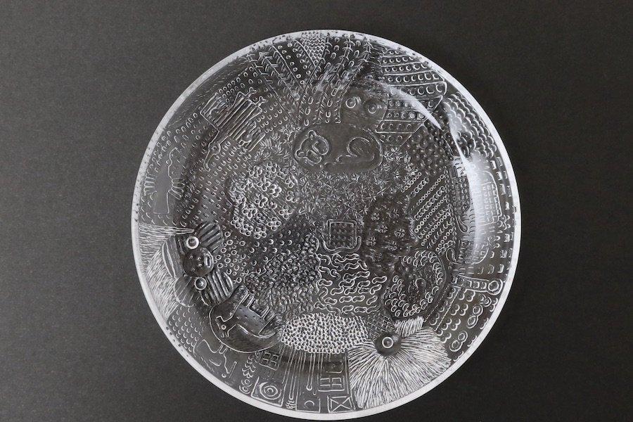 Nuutajarvi/Oiva ToikkaファウナFaunaガラスプレート/クリア17.5cm