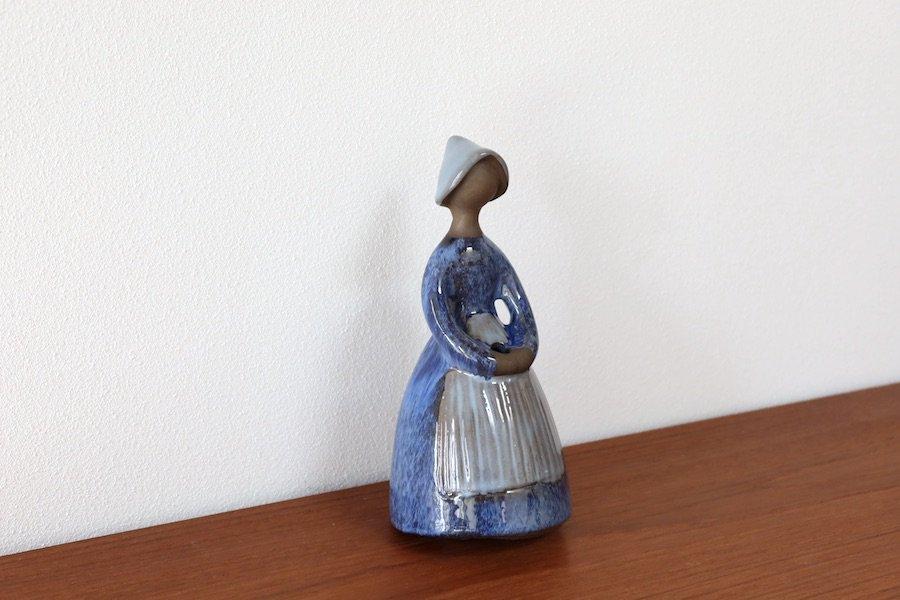 ジィ・ガントフタ/JIE Gantofta/フラワーガール/blomsterflickan/陶器の置物/花瓶