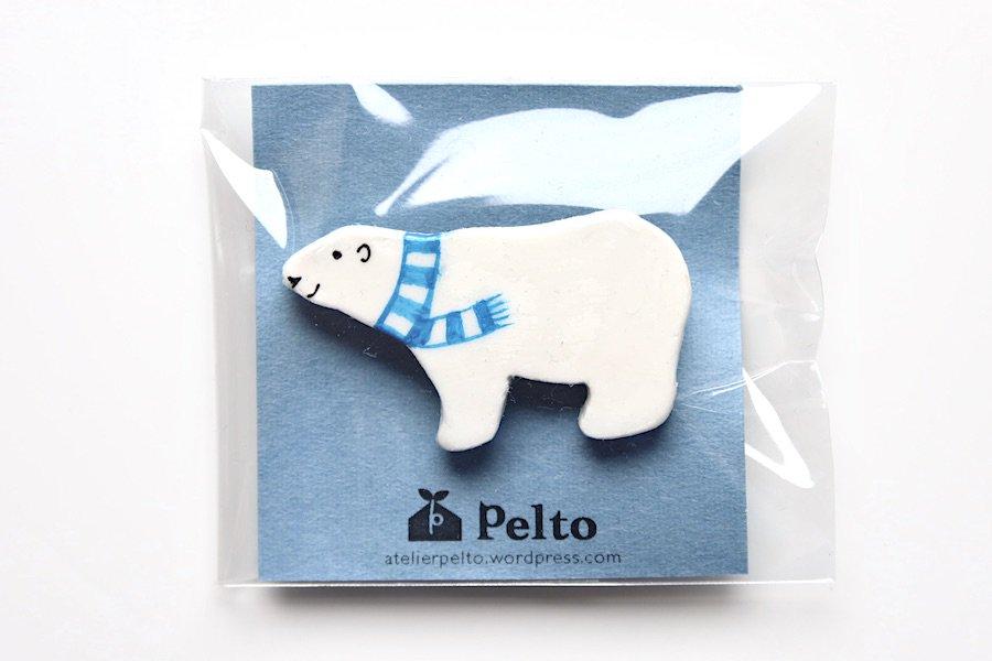 アトリエ・ペルト/Atelier Pelto/シロクマのブローチ