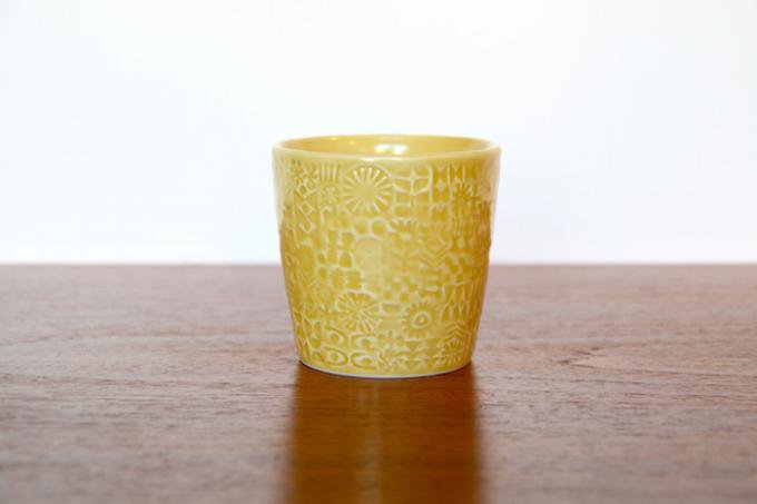 BIRDS' WORDS/バーズワーズ パターンドカップ/PATTERNED CUP/yellow