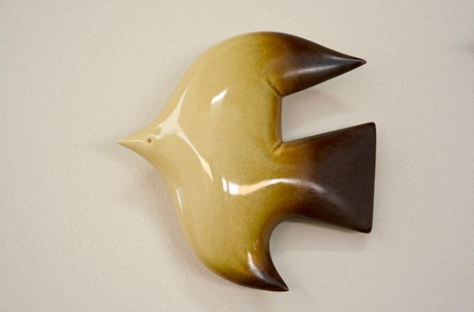 BIRDS' WORDS/バーズワーズ ウォールバード/wall bird/yellowMサイズ