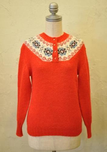 DEANS OF SCOTLAND/ Fair Isle sweater/ Orenge red - zootie ...