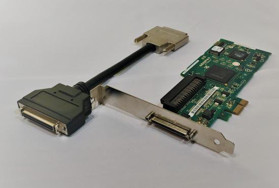 SCSI PCI Express 29320LPEボード50ピン変換付