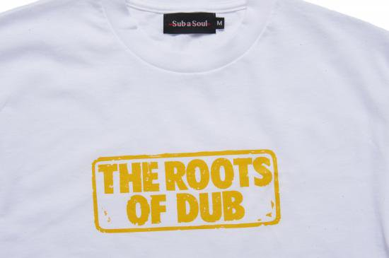 <img class='new_mark_img1' src='//img.shop-pro.jp/img/new/icons14.gif' style='border:none;display:inline;margin:0px;padding:0px;width:auto;' />Sub a Soul The Roots of Dub Tee (white)