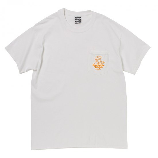 <img class='new_mark_img1' src='//img.shop-pro.jp/img/new/icons14.gif' style='border:none;display:inline;margin:0px;padding:0px;width:auto;' />SAYHELLO HANG LOOSE POCKET S/S TEE (white)