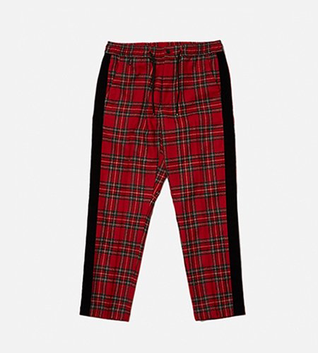 <img class='new_mark_img1' src='//img.shop-pro.jp/img/new/icons14.gif' style='border:none;display:inline;margin:0px;padding:0px;width:auto;' />bal バル WOOL PLAID TAPED PANT (red)
