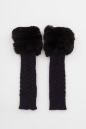 <img class='new_mark_img1' src='https://img.shop-pro.jp/img/new/icons20.gif' style='border:none;display:inline;margin:0px;padding:0px;width:auto;' />Knit Armwarmer w/Rex<br>パープル