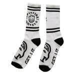<img class='new_mark_img1' src='https://img.shop-pro.jp/img/new/icons15.gif' style='border:none;display:inline;margin:0px;padding:0px;width:auto;' />SPITFIRE / SOCKS White - Black [スッピットファイヤー] 靴下