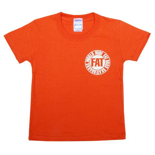 FATBROS / KIDS  TEE [ファットブロス]   キッズTシャツ Orange