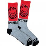 <img class='new_mark_img1' src='//img.shop-pro.jp/img/new/icons15.gif' style='border:none;display:inline;margin:0px;padding:0px;width:auto;' />SPITFIRE / HOMBRE SOCKS  (RED/GREY) [ スピットファイヤー] 靴下