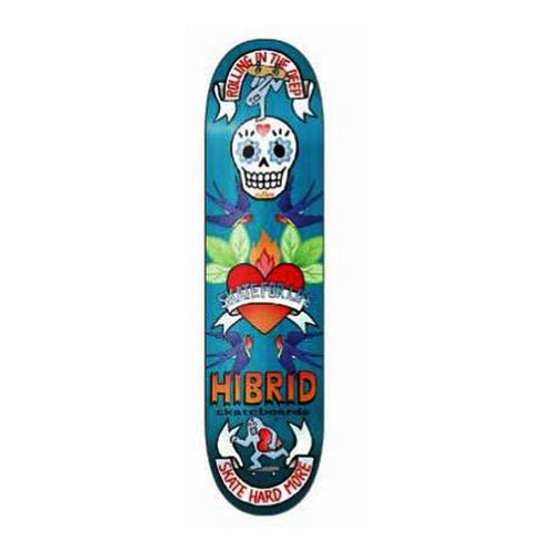 HIBRID skateboards / HI - SKATE HEART - TEAL STAIN (art work by BENICO TOY) 7.875インチ