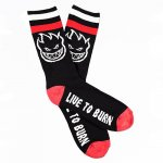 <img class='new_mark_img1' src='https://img.shop-pro.jp/img/new/icons15.gif' style='border:none;display:inline;margin:0px;padding:0px;width:auto;' />SPITFIRE / BIGHEAD LTB SOCKS (BLACK/RED/WHITE) [スピットファイヤー] 靴下