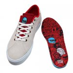 <img class='new_mark_img1' src='//img.shop-pro.jp/img/new/icons15.gif' style='border:none;display:inline;margin:0px;padding:0px;width:auto;' />Lakai x Glaboe / FLACO II GRAVE WHITE/RED [ラカイ] スケートボード シューズ