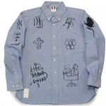 <img class='new_mark_img1' src='https://img.shop-pro.jp/img/new/icons15.gif' style='border:none;display:inline;margin:0px;padding:0px;width:auto;' />LIBE / BABU TATTOO-3 CHAMBRAY SHIRTS [ライブ] シャツ