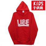 <img class='new_mark_img1' src='https://img.shop-pro.jp/img/new/icons15.gif' style='border:none;display:inline;margin:0px;padding:0px;width:auto;' />LIBE / BIG LOGO KIDS PARKER [ライブ] キッズサイズ パーカー RED