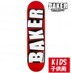 <img class='new_mark_img1' src='//img.shop-pro.jp/img/new/icons15.gif' style='border:none;display:inline;margin:0px;padding:0px;width:auto;' />BAKER / Brand Logo White DECK KIDS [ベーカー] スケートボードデッキ 子供用 7.3インチ