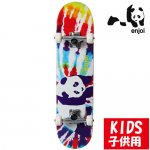 <img class='new_mark_img1' src='https://img.shop-pro.jp/img/new/icons15.gif' style='border:none;display:inline;margin:0px;padding:0px;width:auto;' />enjoy / tie dye panda - tie dye  COMPLETE [エンジョイ] スケートボード コンプリートセット(完成品)mid 7.375インチ 子供用