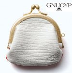 <img class='new_mark_img1' src='https://img.shop-pro.jp/img/new/icons15.gif' style='border:none;display:inline;margin:0px;padding:0px;width:auto;' />GNUOYP / Gamaguchi (sheep leather) [ニュピ] レザー 皮 がまぐち 財布 White & RED