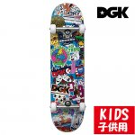 <img class='new_mark_img1' src='https://img.shop-pro.jp/img/new/icons15.gif' style='border:none;display:inline;margin:0px;padding:0px;width:auto;' />DGK / STIX SKATEBOARD COMPLETE SET [ディージーケー] コンプリートセット(完成品)子供用 7.25インチ